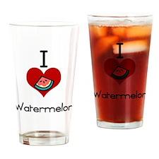 I love-heart watermelon Drinking Glass