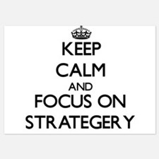 Keep Calm and focus on Strategery Invitations