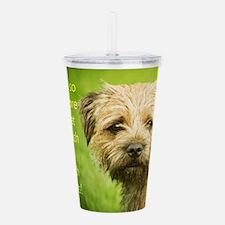 Border Terrier Dog Acrylic Double-Wall Tumbler