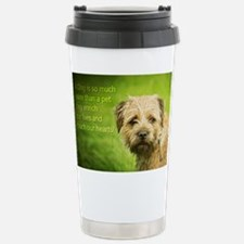 Border Terrier Dog With Stainless Steel Travel Mug
