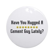 Hugged Cement Guy Ornament (Round)