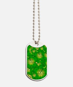 Green hibiscus Dog Tags
