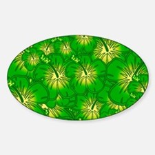 Green hibiscus Decal