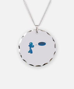 Frisbee Man Necklace