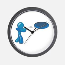 Frisbee Man Wall Clock