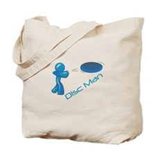 Disc Man Tote Bag