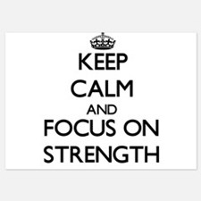 Keep Calm and focus on Strength Invitations