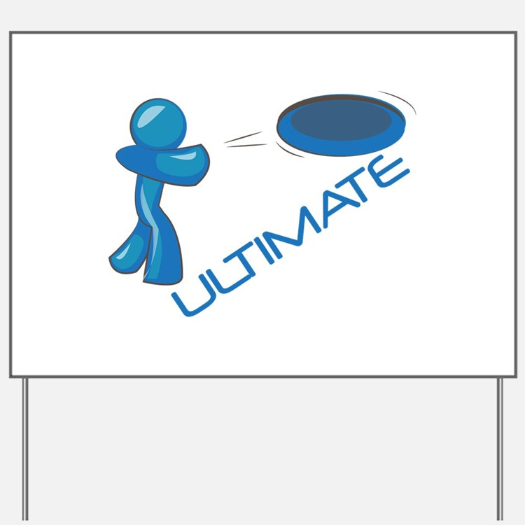 Ultimate Frisbee Yard Sign