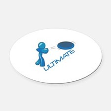 Ultimate Frisbee Oval Car Magnet