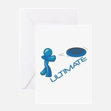 Ultimate Frisbee Greeting Cards