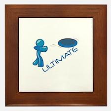 Ultimate Frisbee Framed Tile