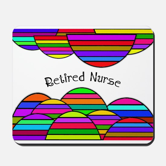 retired nurse blanket abstract Mousepad