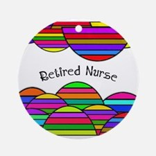 retired nurse blanket abstract Ornament (Round)