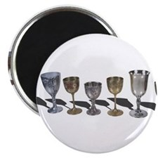 A variety of wine chalices Magnets