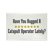 Hugged Catapult Operator Rectangle Magnet