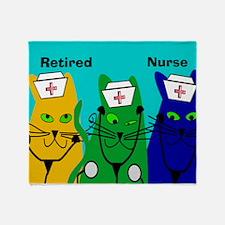 Retired Nurse FF 6 Throw Blanket
