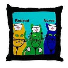 Retired Nurse FF 6 Throw Pillow