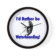 Waterboarding Cheney Wall Clock