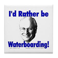 Waterboarding Cheney Tile Coaster