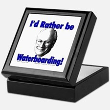 Waterboarding Cheney Keepsake Box