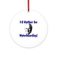 Waterboarding Cheney Ornament (Round)