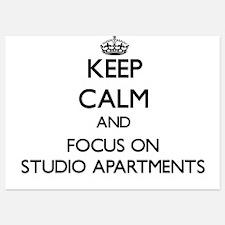 Keep Calm and focus on Studio Apartmen Invitations