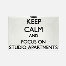 Keep Calm and focus on Studio Apartments Magnets