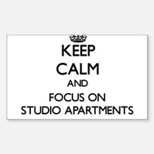 Keep Calm and focus on Studio Apartments Decal