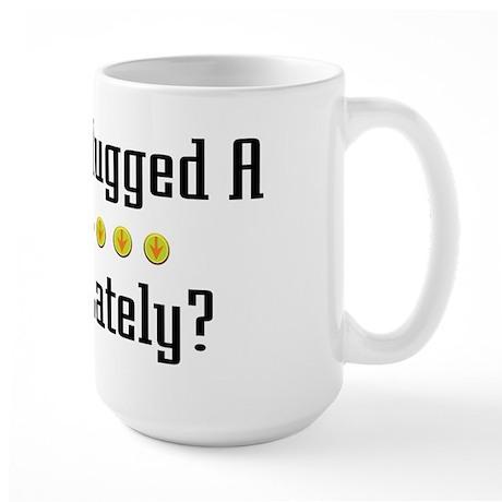 Hugged Cashier Large Mug
