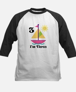 Sailboat Girls Sailing Birthday Baseball Jersey