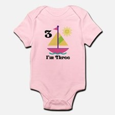 Sailboat Girls Sailing Birthday Body Suit
