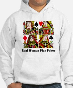 Real Women Play Poker Hoodie