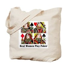 Real Women Play Poker Tote Bag
