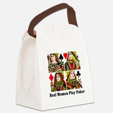 Real Women Play Poker Canvas Lunch Bag
