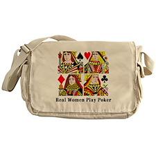 Real Women Play Poker Messenger Bag