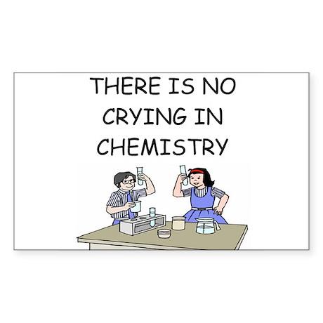 chemistry geek Sticker (Rectangle)