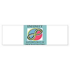 funny unfinity math joke gifts t-shirts Bumper Sticker
