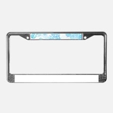 Grunge Snowflakes License Plate Frame