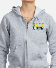 Autism-Ugly-Duckling-White.png Zip Hoodie