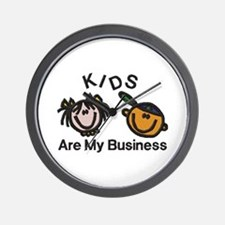 Kids Are My Business Wall Clock
