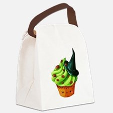 Green Halloween Cupcake Canvas Lunch Bag