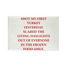 turkey shoot Rectangle Magnet