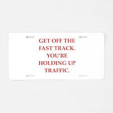 TRAFFIC Aluminum License Plate