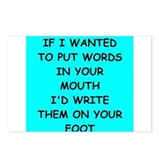 foot in mouth Postcards (Package of 8)