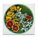 Summer Circle Tile Coaster
