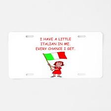 ITALIAN.png Aluminum License Plate