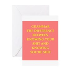 writing joke Greeting Card