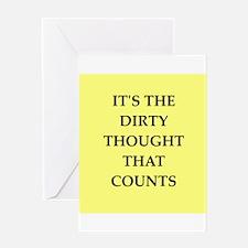 dirty mind Greeting Card