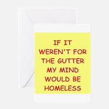 gutter mind Greeting Card