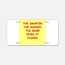 monkey Aluminum License Plate